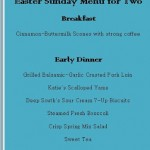 Recipe Review: Easter Dinner for Two