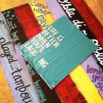 Reviewing Pinspiration: Stenciled Newspaper Canvas