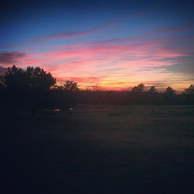 We have the prettiest sunsets here in Oklahoma, and I feel so blessed to soak them up right over our pond.