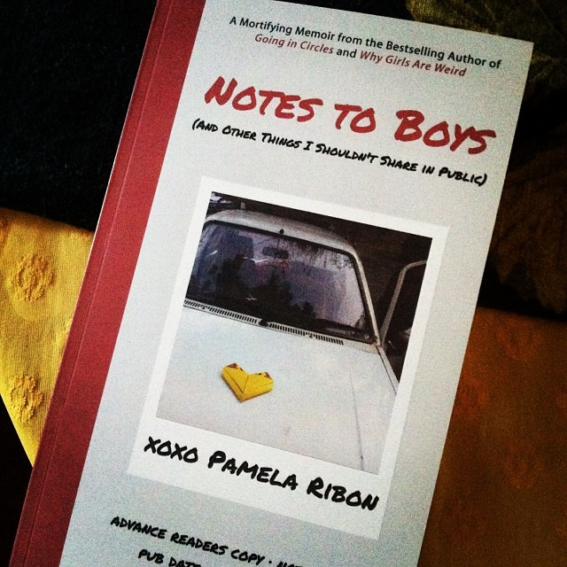 Notes to Boys by Pam Ribon. You guys, read this book. Pronto.