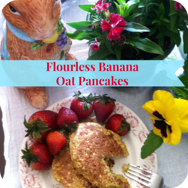 flourless banana oat pancakes