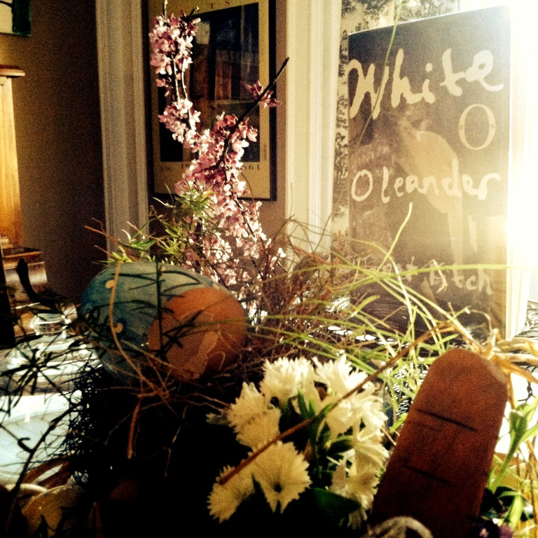 white oleander table setting 1