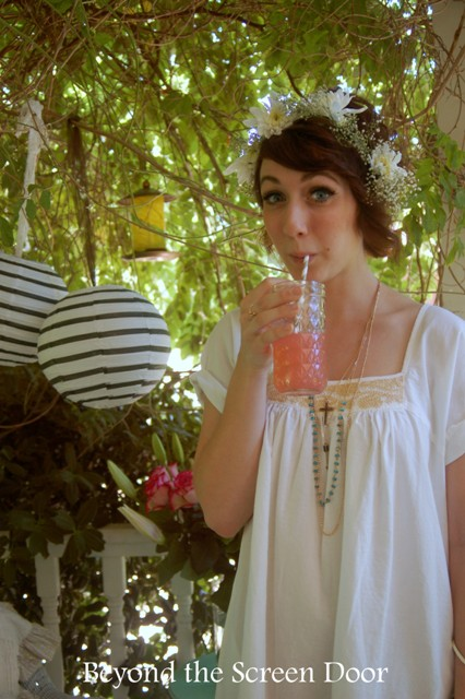 This lovely woman could be from any decade, any era of feminine beauty. I am infatuated with her dress, her necklace, her striped paper lanterns, her floral crown, everything. Mostly? Her obvious joy. xoxo Congratulations Kayleigh!