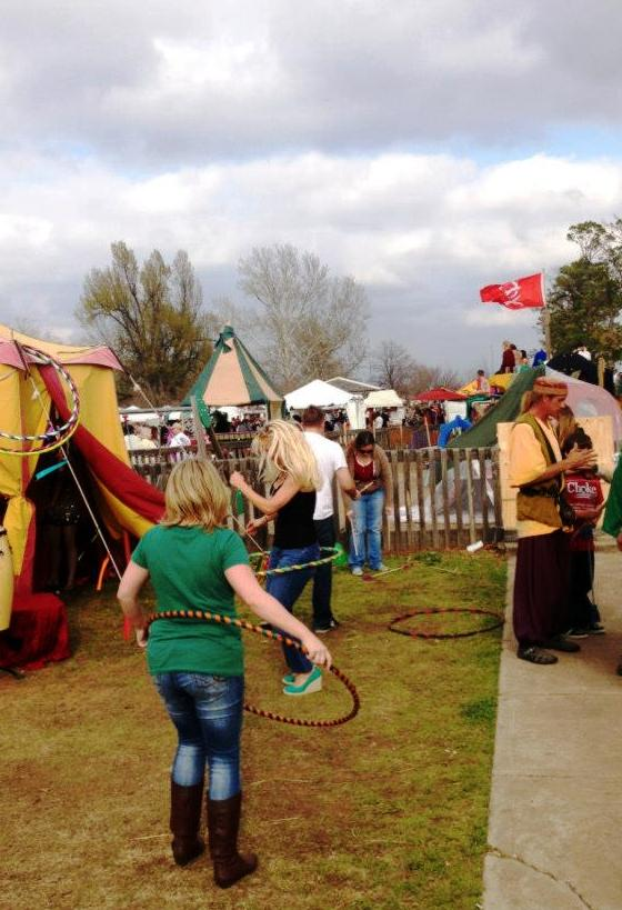 hula hooping at the medieval fair... close enough