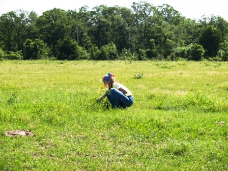 My baby, also picking me some wildflowers, also Mother's Day 2007.