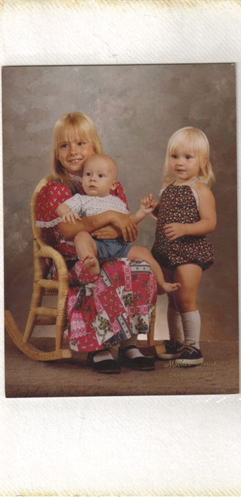 That's me holding Joey and our sweet sister Angela. Before we ever knew there would be a Genny or a Phil. xoxo