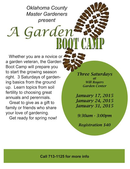 Oklahoma Country Master Gardeners hosts garden boot camp in January.