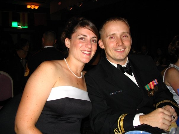 This photo was taken in 2009 at a Navy ball. I love seeing Joey in uniform and Halee in formals! Such a gorgeous, loving couple.