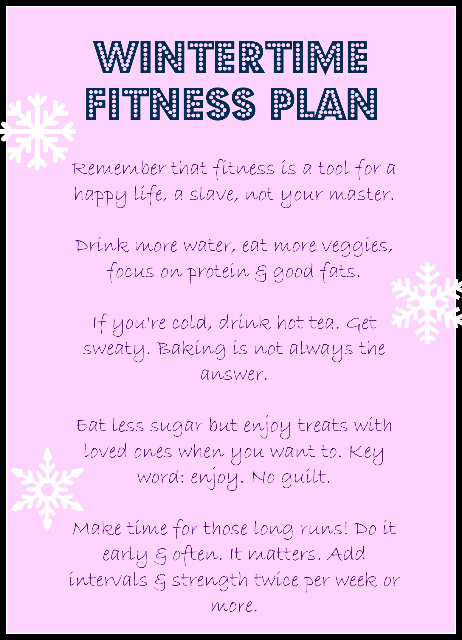 lazyw wintertime fitness plan