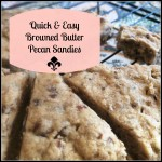 browned butter pecan sandies