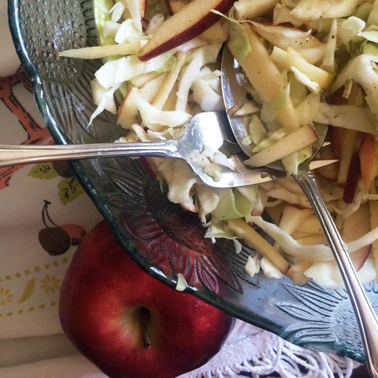 use what you have apple slaw