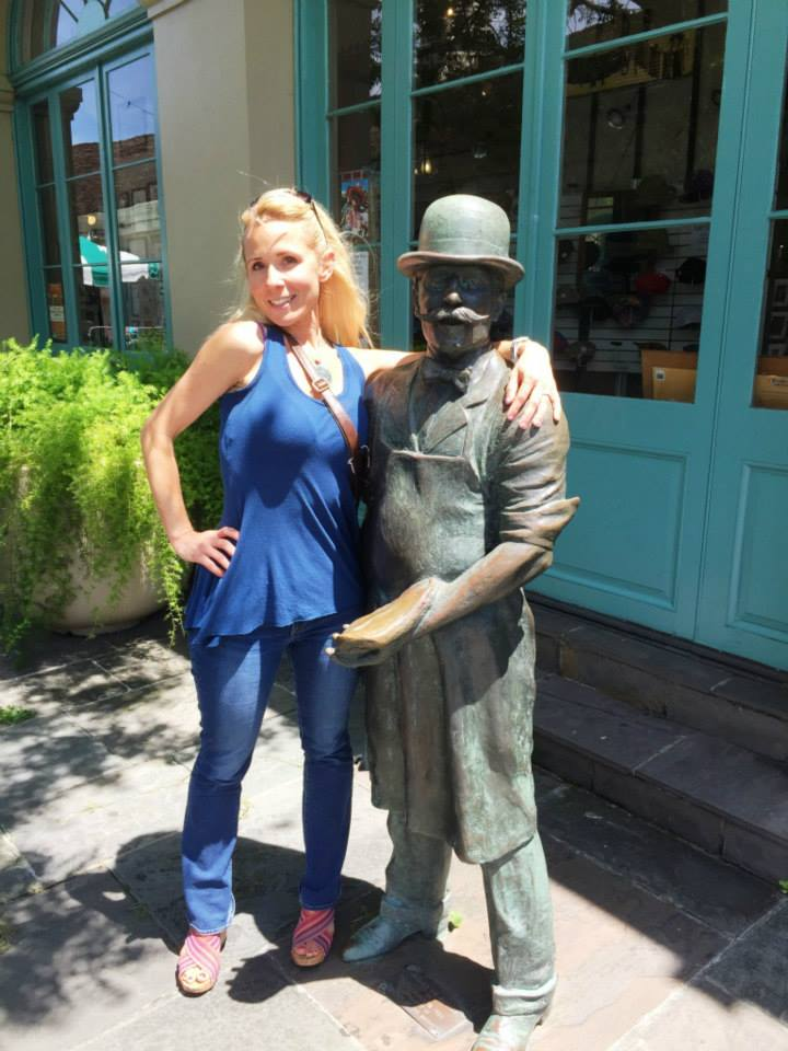 This statue in New Orleans never changes, of course. Every year I look different next to him. LOL Suck it in lady!! haha
