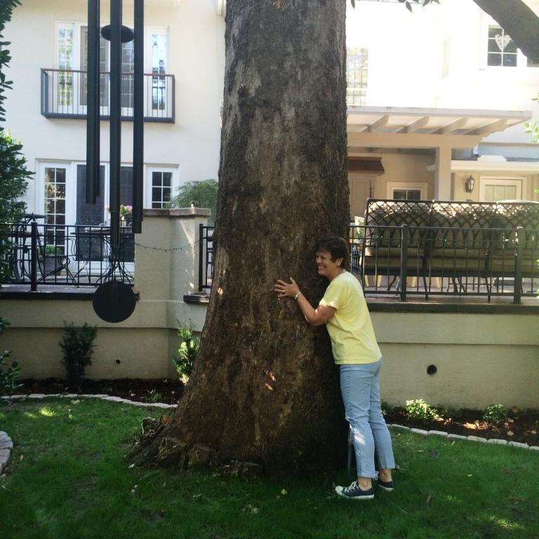 Tree hugging! xoxo