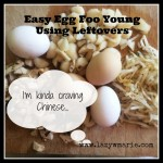 easy egg foo young using leftovers