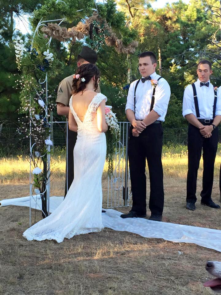 Kate & Dillon say their vows with friends and family to witness...xoxo
