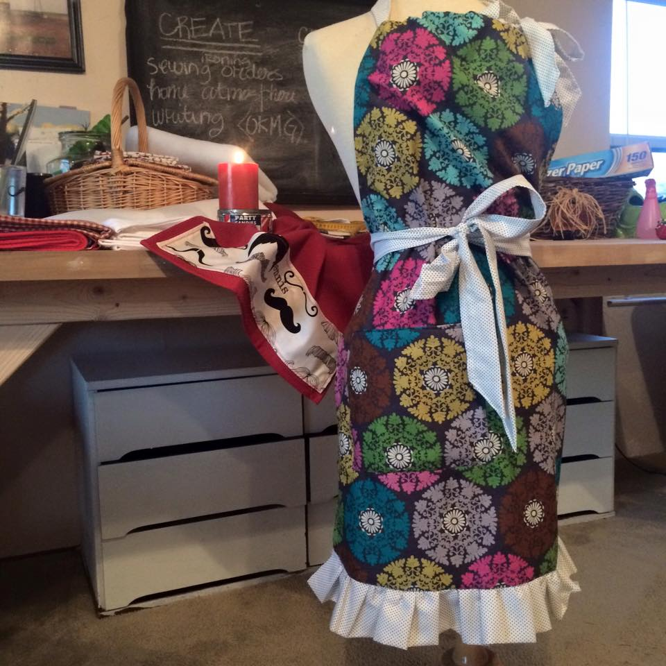 Did you know I sell handmade apron sets? Drop me a line. I would love to set you up with something cute. xoxo