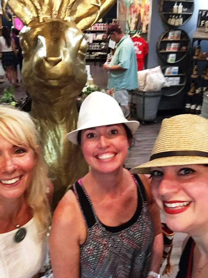 Me with Trisha and Kellie! I love their hats and style. Also, pretty sure the merchant in this cool shop wondered if we were shoplifting. Ha. It was all part of the scavenger hunt.